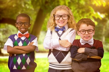 Composite image of school kids
