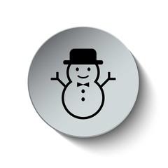 Snowman icon. Snow icon. Christmas icon. Button. EPS10. Illustra