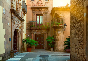 Poble Espanyol - traditional architectures in Barcelona, Spain
