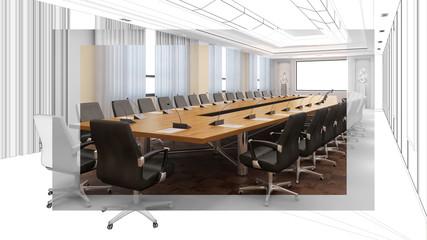 Entwurf und Planung von Konferenzraum