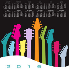 2016 Creative Guitar Calendar for Print or Web