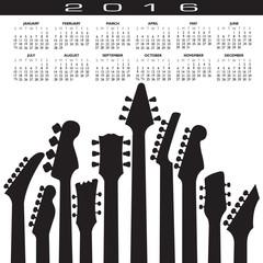2016 Creative Guitar Calendar for Print or Web