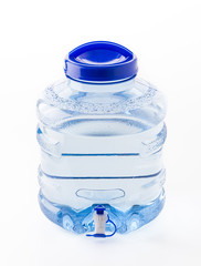 water cooler bottle on white background
