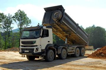 big truck tipper at work