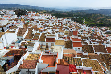 top view of  spanish town.  Olvera