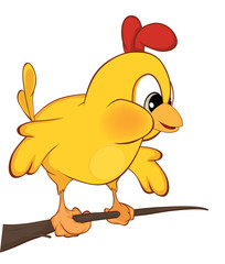 Cute chicken  illustration. Cartoon