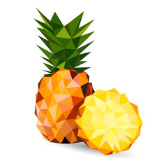 Vector illustration of a pineapple