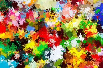 Colorful paint splashes background. Creative art