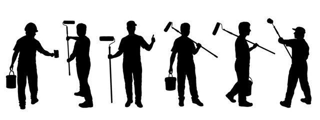 painter silhouettes