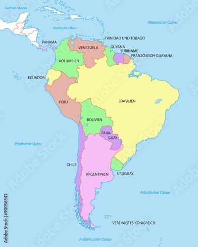 Lateinamerika Karte Länder.Südamerika Karte Mit Ländern Stockfotos Und Lizenzfreie Vektoren