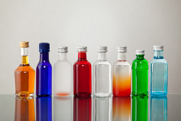 Group of colorful bottles