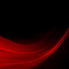 abstract background vivid red lines and curve glowing in the dark