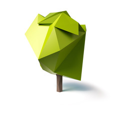 abstract tree low poly