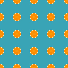 Orange Seamless Pattern.
