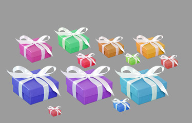 Colorful collection of gift boxes