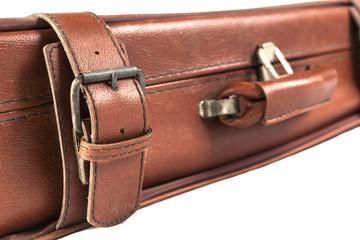 Brown Suitcase Closeup