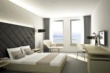 Hotelzimmer Weiss