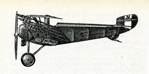 Fighter plane, armed with Le Prieur anti-dirigible rockets (1917)