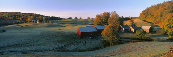 Autumn scene of Vermont farm
