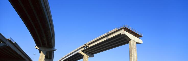 Unfinished freeway ramp