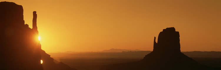 Sun setting at Monument Valley, Arizona