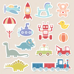 toys icon pastel color sticker illustration vector