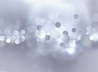 silver bokeh background
