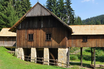 wooden water mill,Vychylovka,Slovakia