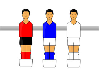 Table Football Figures with German League Uniforms 2