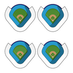 Set of Baseball Stadiums  3