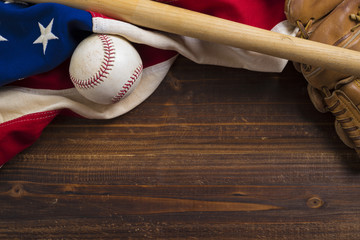Old Glory and the National pastime Wall mural