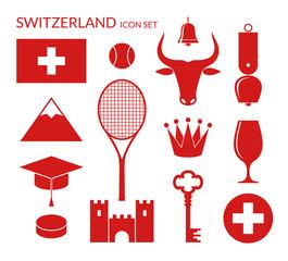 Switzerland. Icon set