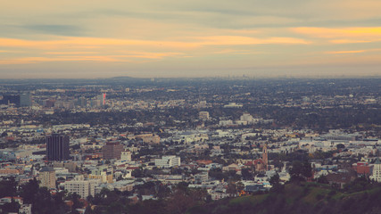 Cityscape of Los Angeles at Dusk