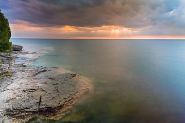 Wall Mural - Moody Lake Michigan Dawn