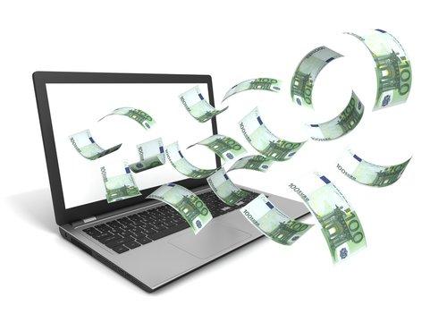 euros from laptop screen
