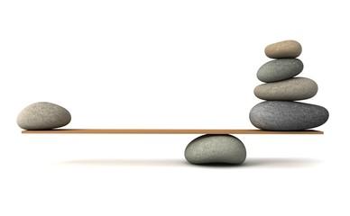 balancing stones Wall mural