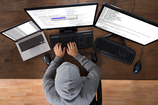 Hacker Stealing Information From Computers