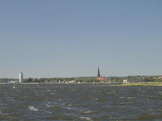 Stadt Schleswig am Horizont