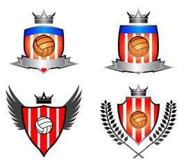 Vintage Soccer emblem vector image