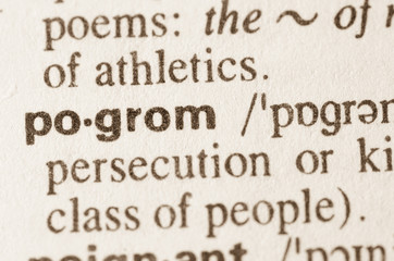 Dictionary definition of word pogrom