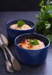 Chicken casserole with cream and cheese