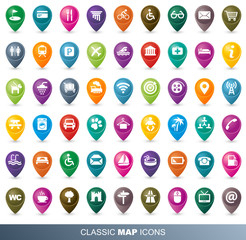 Classic MAP icônes FULL collection