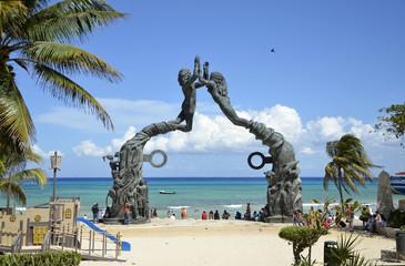 Portal Maya Sculpture at Playa del Carmen