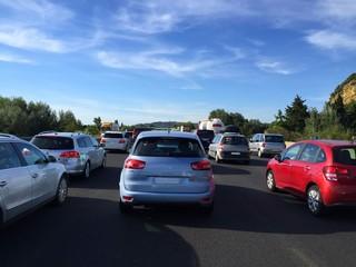 embouteillage sur l'autoroute