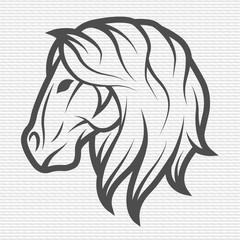 Horse symbol, logo, emblem.