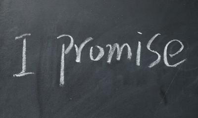 I promise text write on blackboard