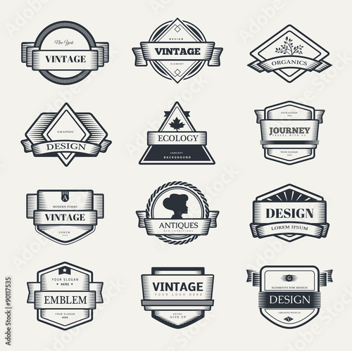 Vintage logo design templates