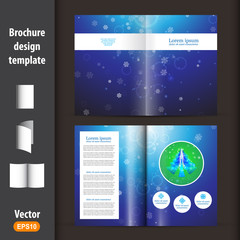 Christmas booklet, template