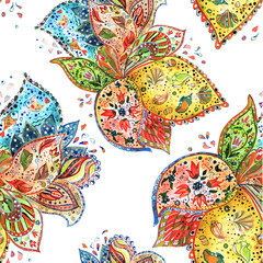colorful seamless texture watercolor. vector illustration