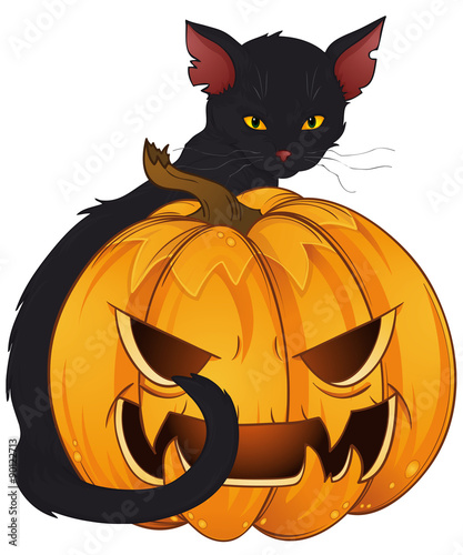 Halloween Schwarze Katze Stock Image And Royalty Free Vector Files